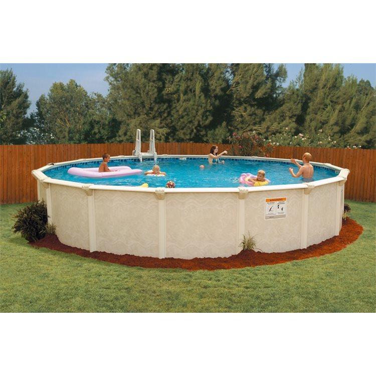 Zwembad rond 550cm x 135 cm hoog geleverd met zandfilter - Rond het zwembad ...